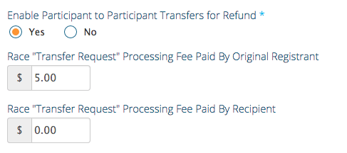 Bib Transfer Fee