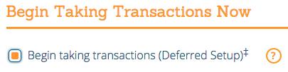Begin Taking Transactions