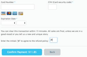 Custom Refund Policy