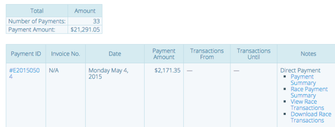 Payment Report