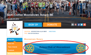 Race Website Page with Image