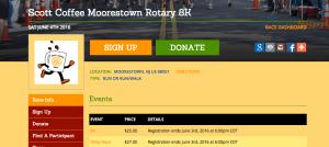Race Website Color Theme