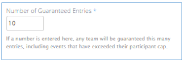 Team Guaranteed Entries
