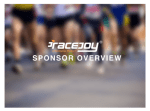 RaceJoy Sponsor Video Now Available