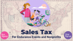 Webinar Recap: Sales Tax and Races