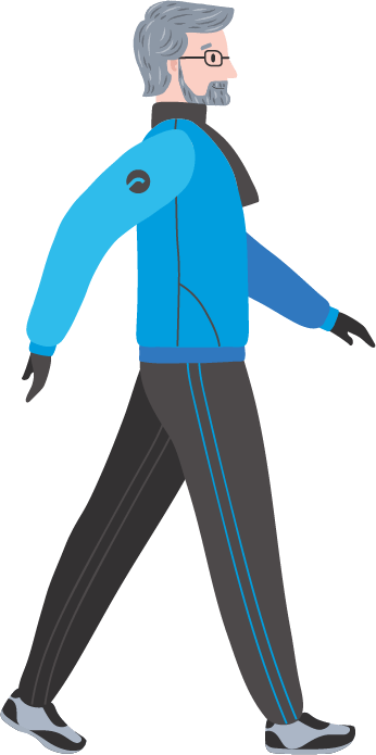 This image has an empty alt attribute; its file name is Older-Man-Walking-Blue.png
