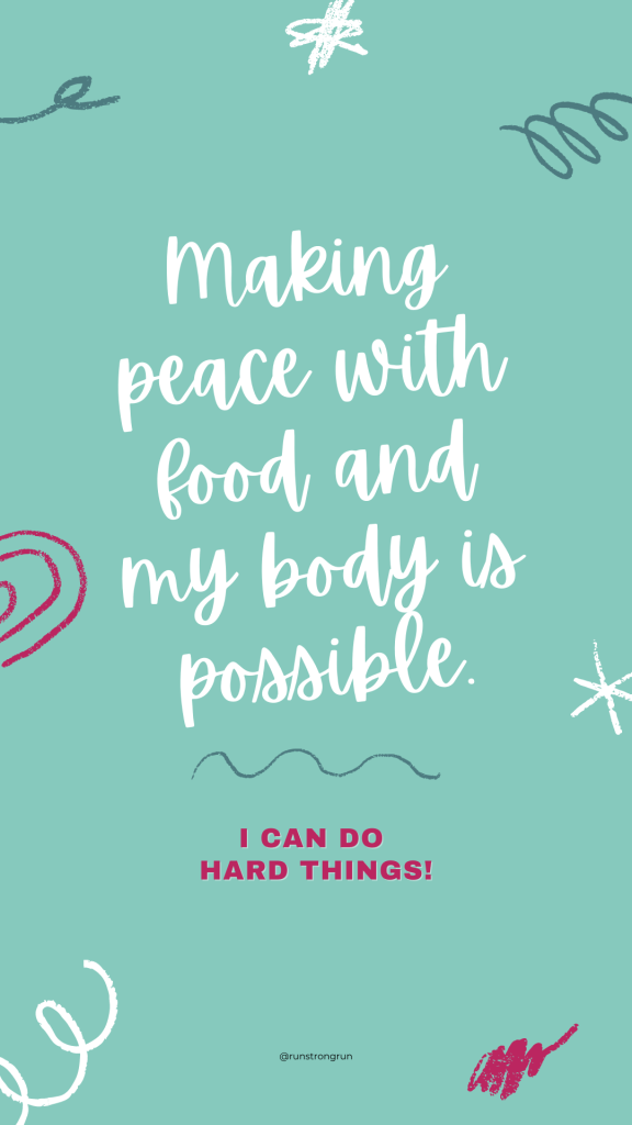 Inspirational Phone Wallpaper - Make Peace with Food