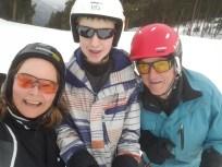 Downhill skiing with Jaydan