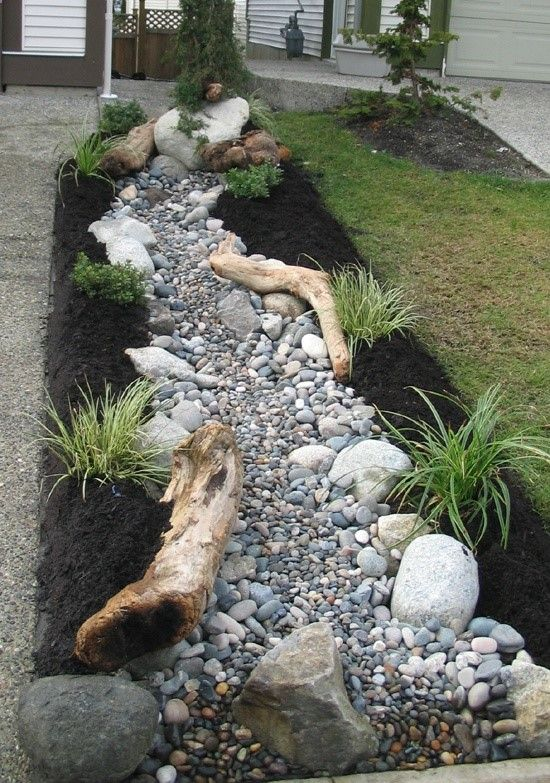 beautiful river rock landscaping