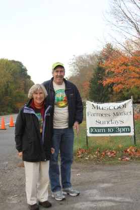 Sue Moga and Gary Esposito seeing to the parking.