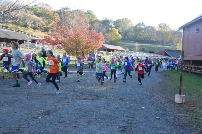 Start of 7-12 Year Old Kids Race (photo by Faith Willett)