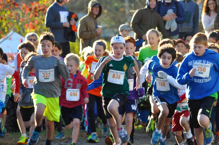 Start of 7-12 Year Olds Race in 2014.