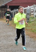 Morgan Eigel at 10 years old on her way to a win and setting a new course record for the girls 7-12 year old race.