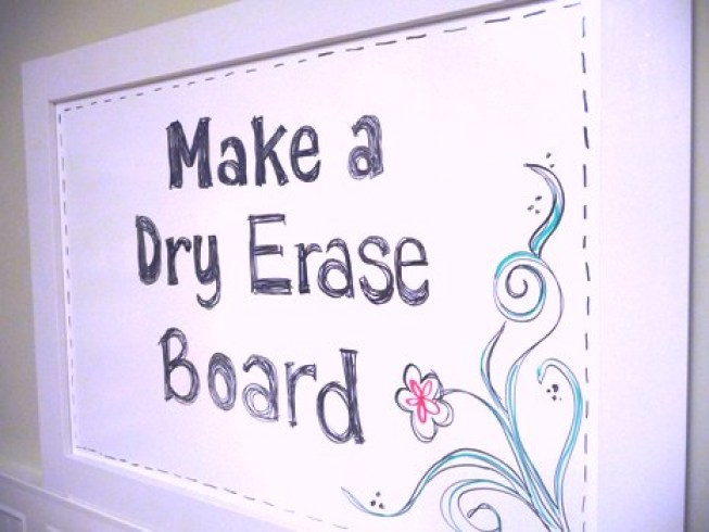 5 Super Simple Diy Whiteboard Tutorials Make A Dry Erase