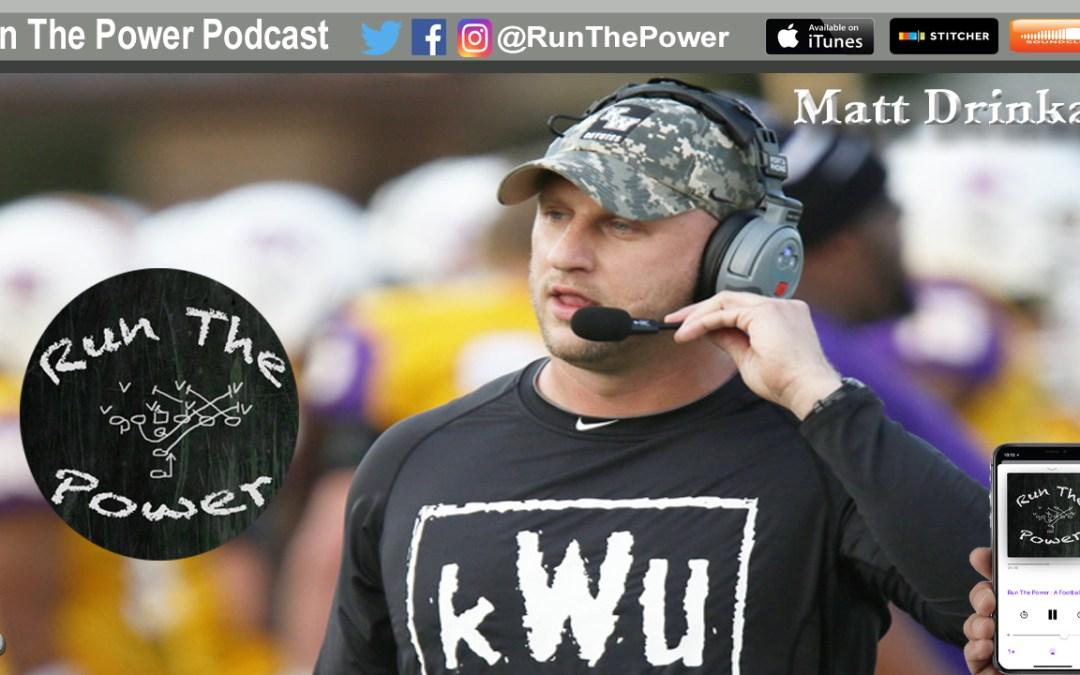 """""""Matt Drinkall – Running Power at Kansas Wesleyan EP 045"""" Run The Power : A Football Coach's Podcast"""