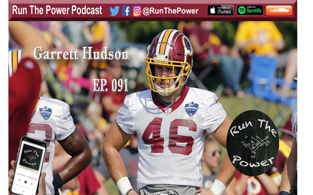 """Garrett Hudson – Playing for the Redskins & Coaching HS Ball Ep. 091"" Run The Power : A Football Coach's Podcast"