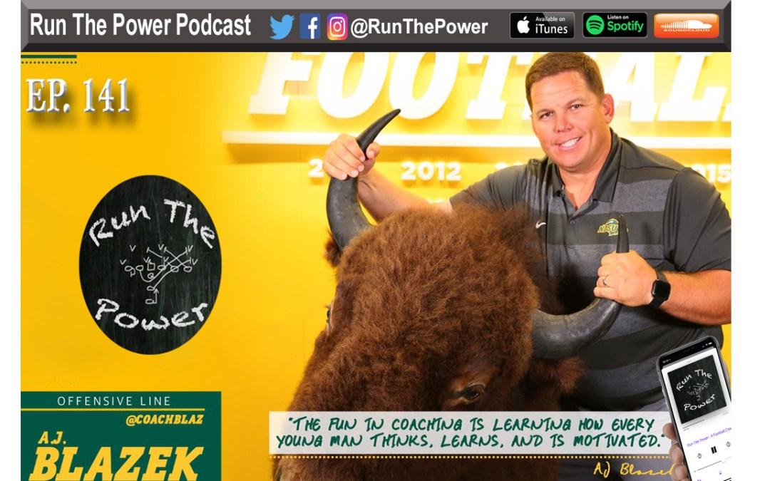 """AJ Blazek – North Dakota State Run Game Ep. 141"" Run The Power : A Football Coach's Podcast"