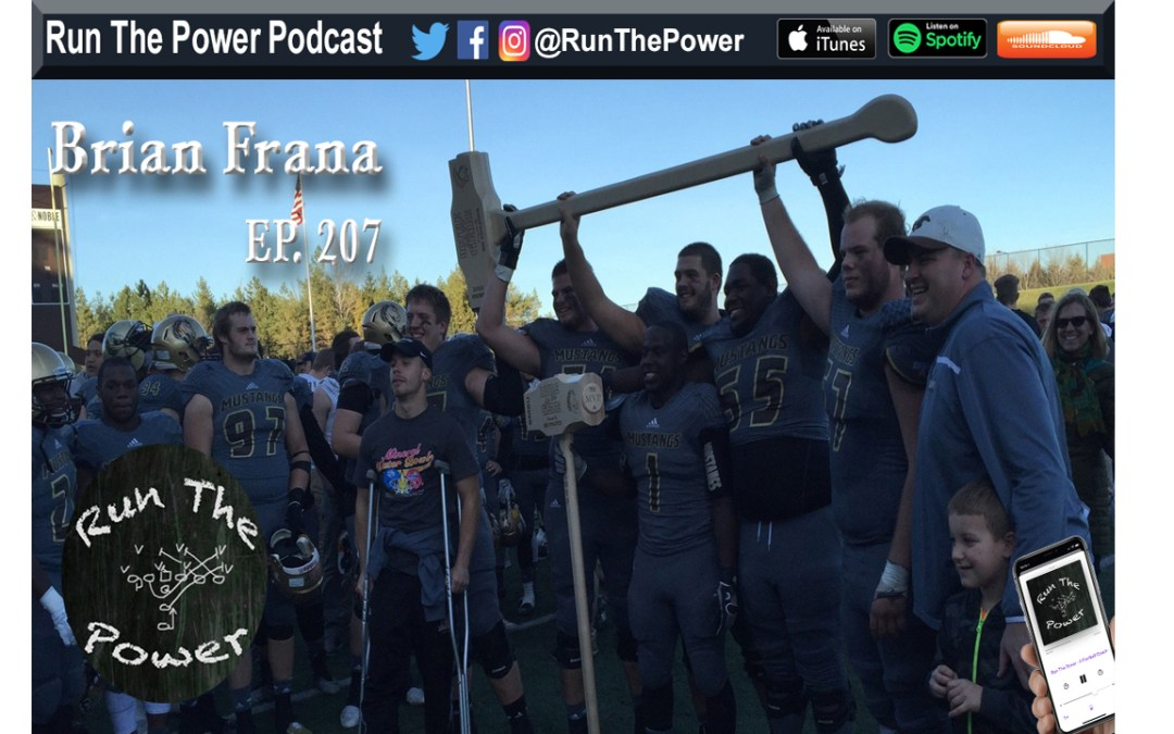"""Brian Frana – Run Game Schemes & Analysis Ep. 207"" Run The Power : A Football Coach's Podcast"
