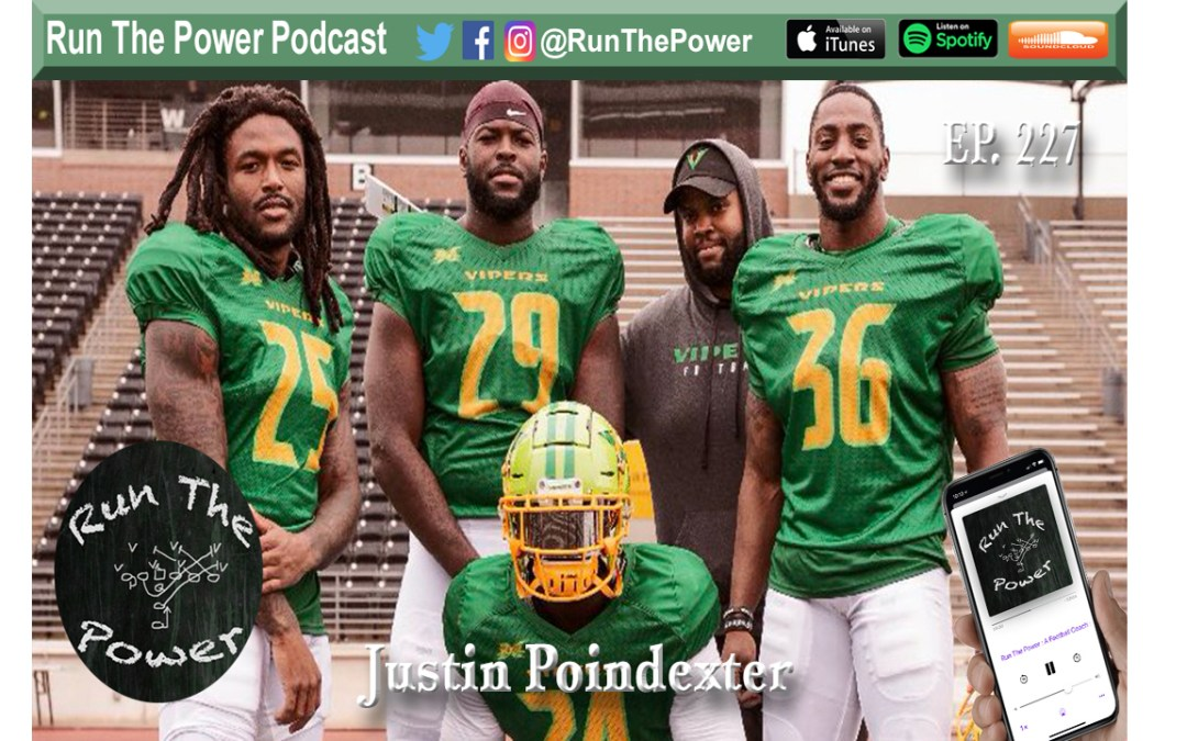 """Justin Poindexter – RB's in the XFL Ep. 227"" Run The Power : A Football Coach's Podcast"