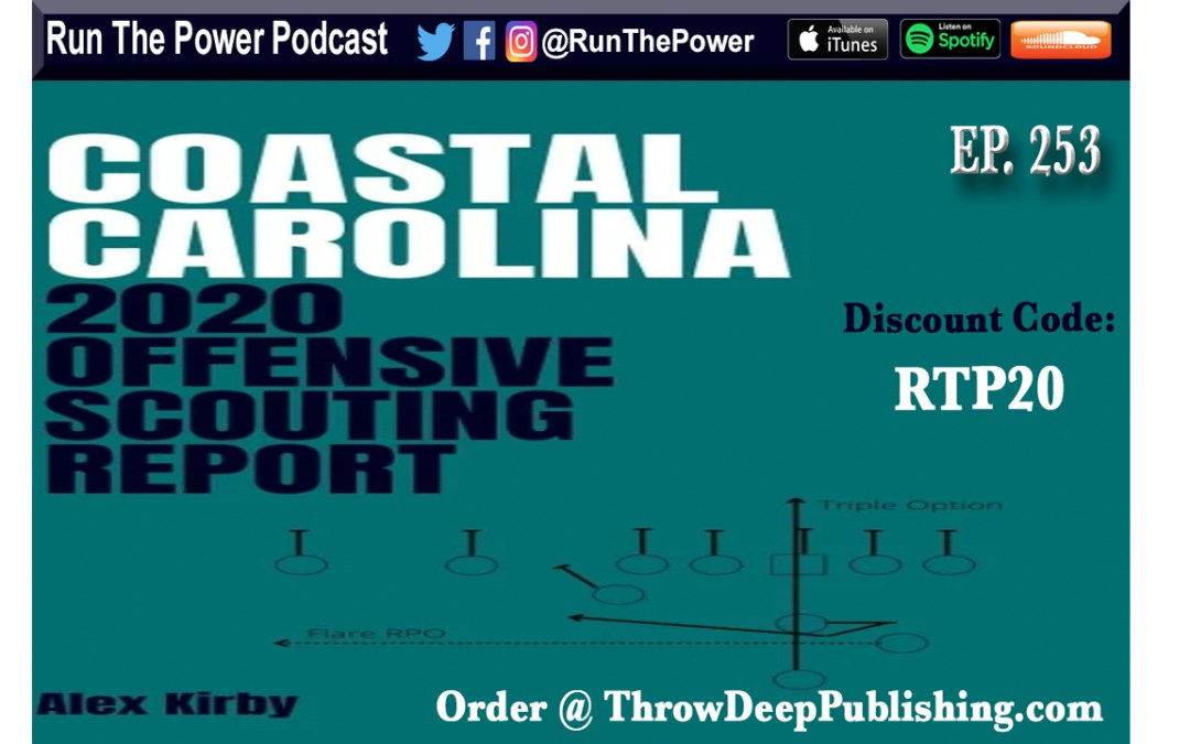 """Alex Kirby – Coastal Carolina 2020 Offensive Scouting Report Ep. 253"" Run The Power : A Football Coach's Podcast"