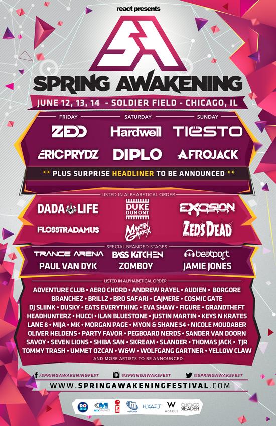 Spring Awakening Music Festival Releases 2015 Lineup  RTT