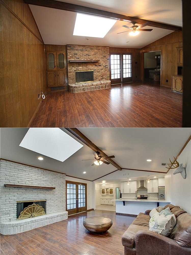 Ranch House Additions Before And After : ranch, house, additions, before, after, Entire, House, Before, After, Pictures, Ranch, Remodel, Budget