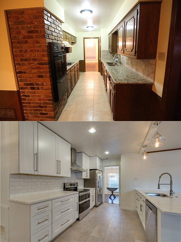 Open Concept Small Kitchen Remodel Before And After Novocom Top