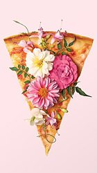 girly cute iphone pizza backgrounds pretty flowers pastel wallpapers background pink phone than slice literally unless bunch okay cannot better
