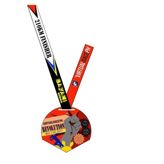 VirtualRacePH Revolution - Finisher's Medal