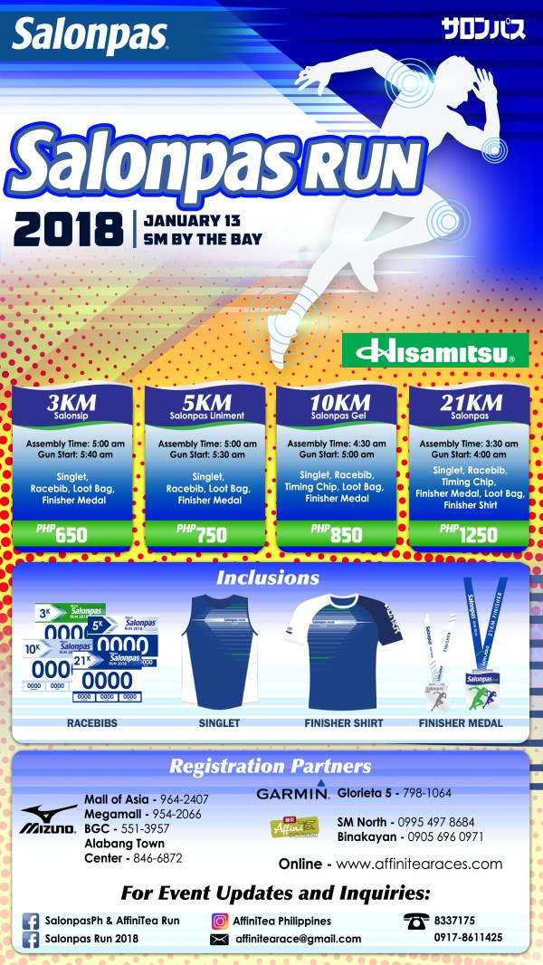 Salonpas Run 2018 - Race Details