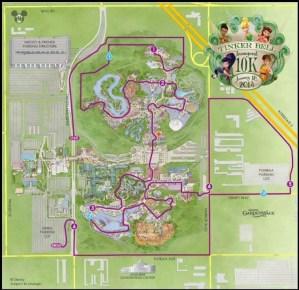 runDisney Tinker Bell 10k Course Map
