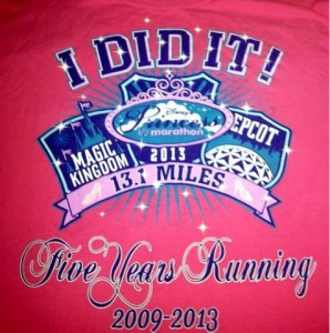 "runDisney Princess Race Expo Merchandise: The ""I Did It Shirt"""