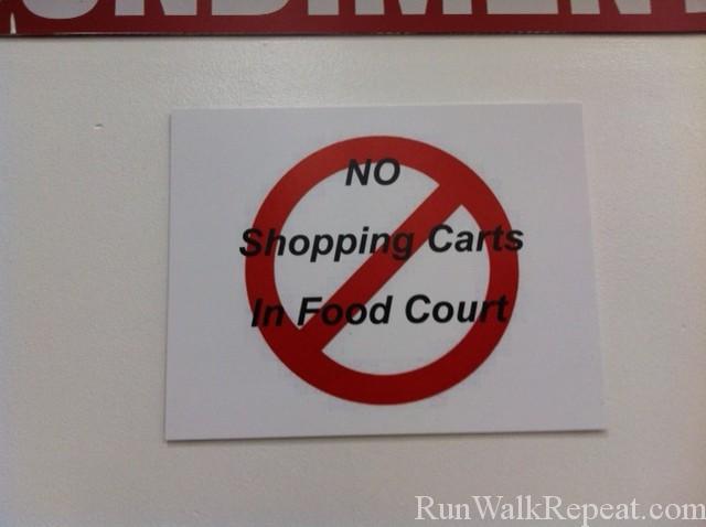 CostcoShoppingCartSign