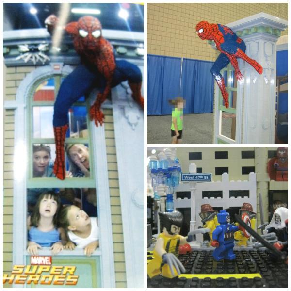 Spiderman and other Mavel Super Heroes at LEGO KidsFest 2014 Atlanta