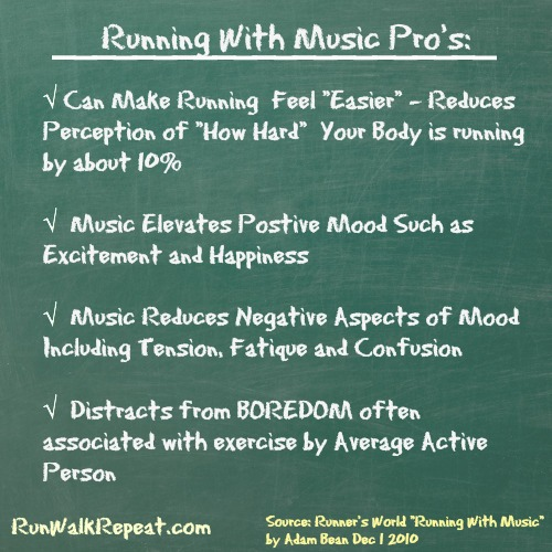 """Taken from Runners World """"Running With Music - Two Sides of a Very Hot Topic"""" by Adam Beane December 1, 2010"""