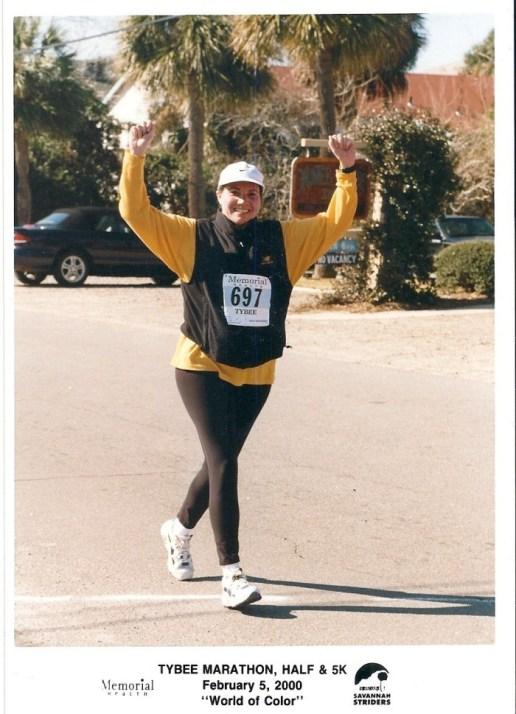 Old School Race Photo, 2nd Half Marathon and still a PR!