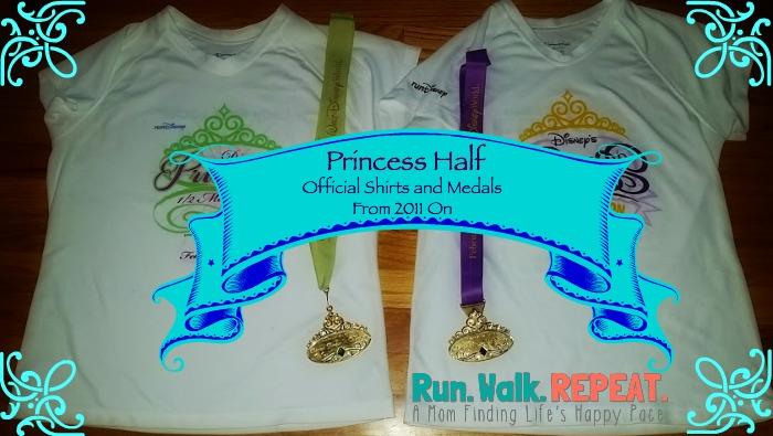 Princess Half Shirts and Medals