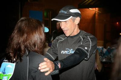 Jeff Encouraging Me to Keep Running at On the Road To Disney Parks Event 2013