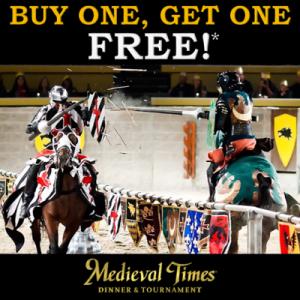 Medieval Times BOGO Spring Break Deal