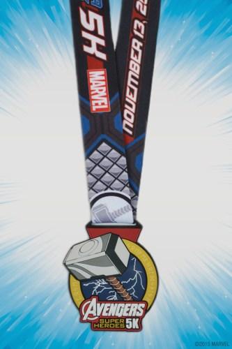 Avengers 5k Medal 2015 Thor Hammer