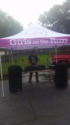 Thanks Mr Girls on the Run DJ for your mad spin skillz.