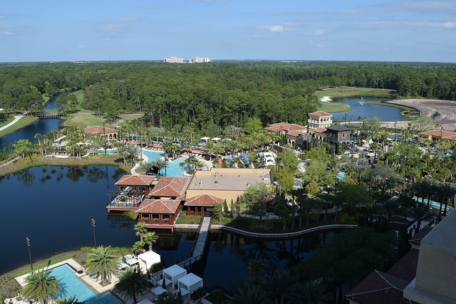 Four Seasons Resort Pool and Theme Park View from Room