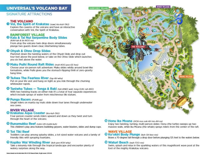 Volcano Bay Map