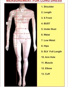 Measurement chart for women   tailoring also instruction custom rh runwayfashion