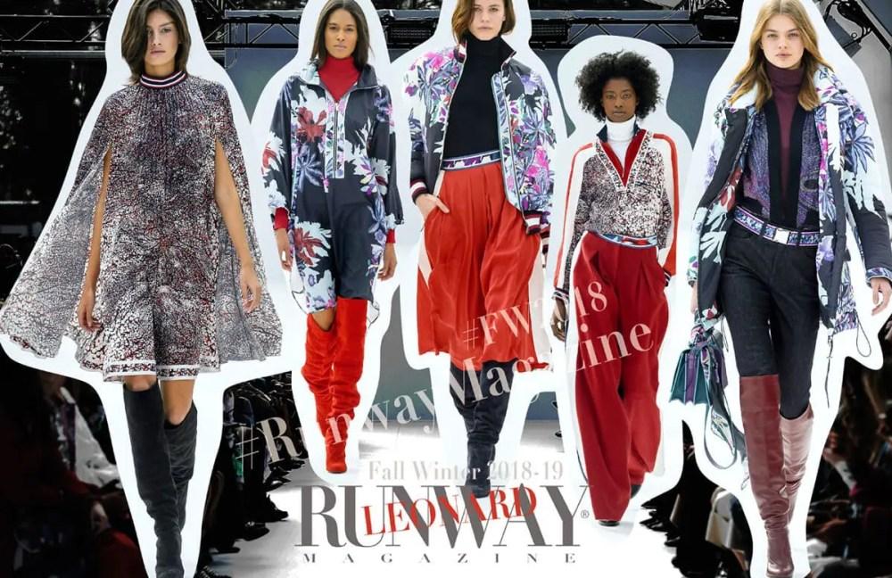 LEONARD Fall-Winter 2018-2019 by Runway Magazine Paris FW