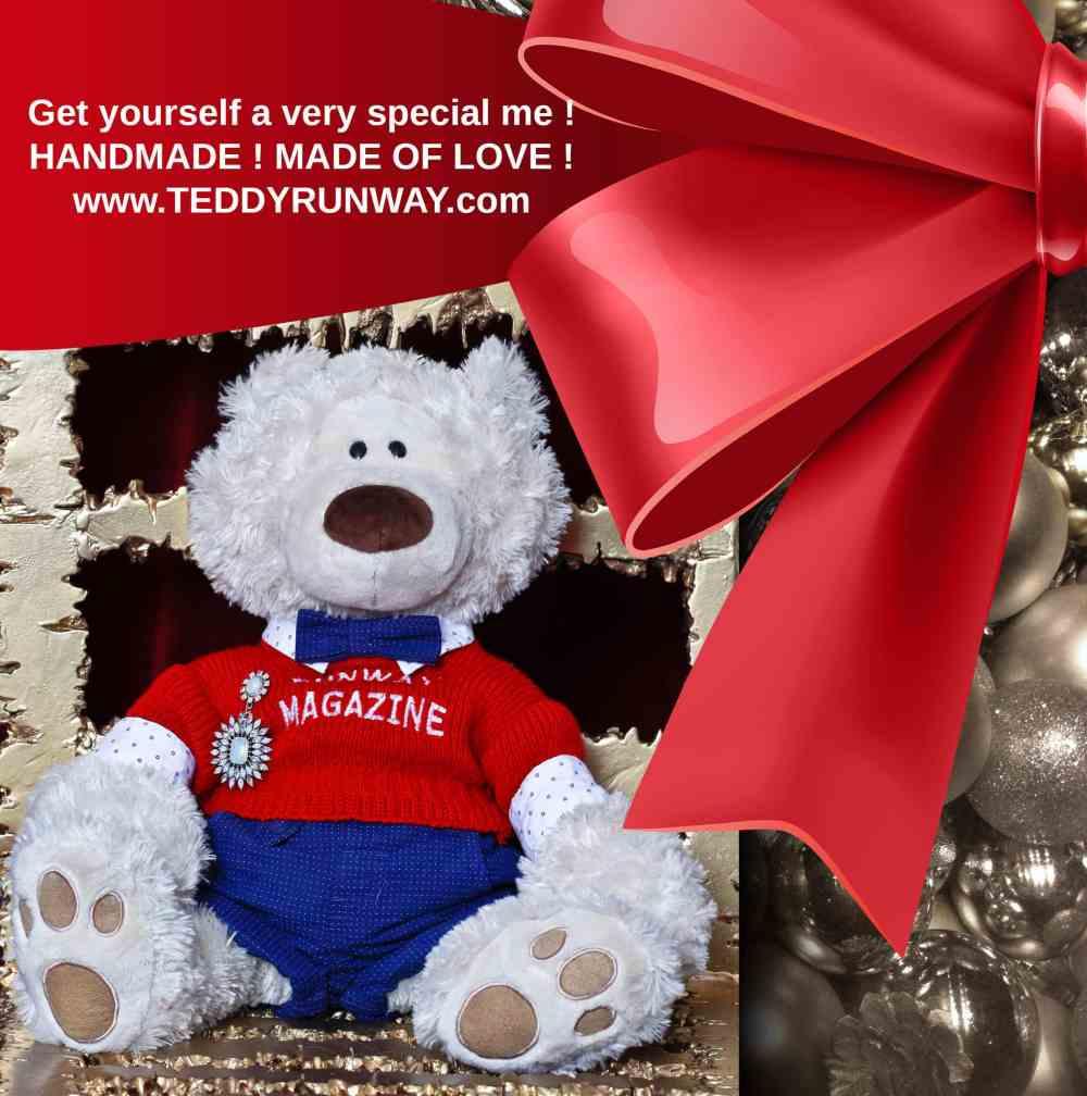 Teddy Runway by Runway Magazine - staffed bear