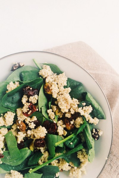 Coconut Quinoa Salad with Cranberries and Pistachios