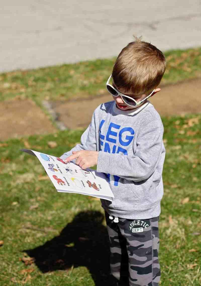 Neighborhood Scavenger Hunt for kids