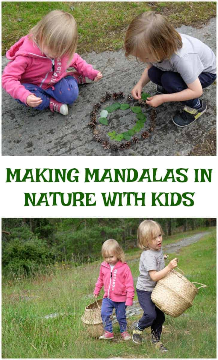 how to make nature mandalas with kids