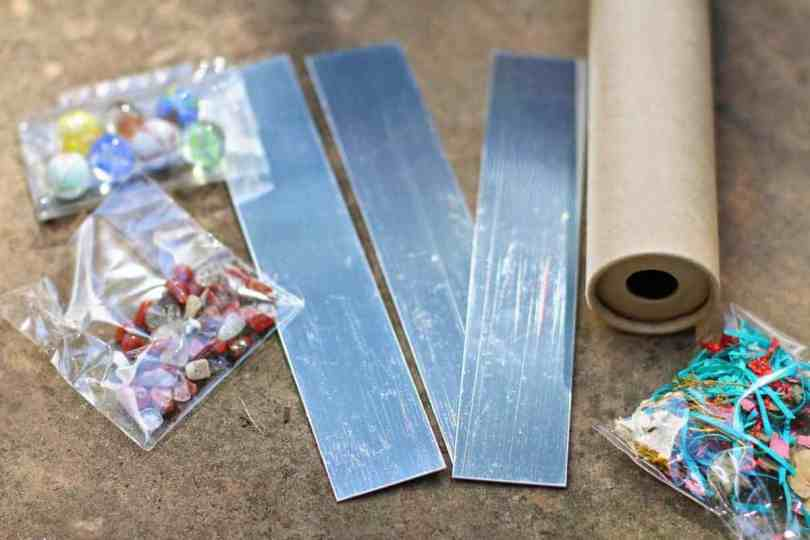 Making a DIY Nature Kaleidoscope with kids